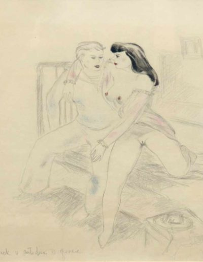 """Janusz Maria Brzeski (1907-1957) """"Scena erotyczna"""""""
