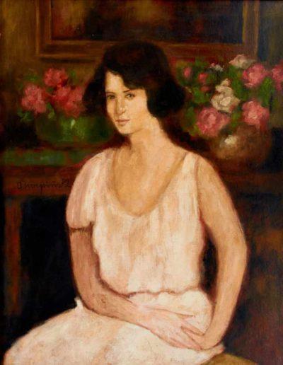 "Alfons Karpiński (1875-1961) ""Portret żony"", źródło: Zisska & Lacher"