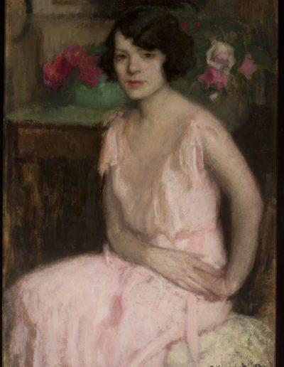 """Alfons Karpiński (1875-1961) """"Portret żony"""", źródło: Muzeum Narodowe w Warszawie"""