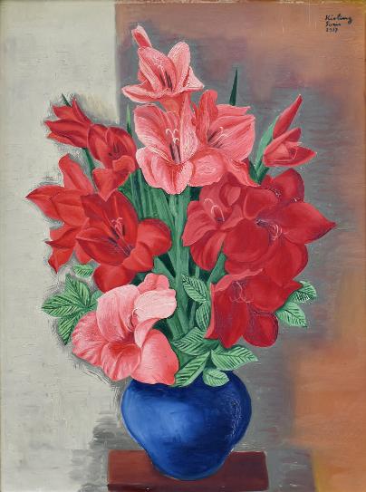"""Mojżesz Kisling (1891-1953) """"Bukiet lilii"""", źródło: Enchères Côte d'Opale"""