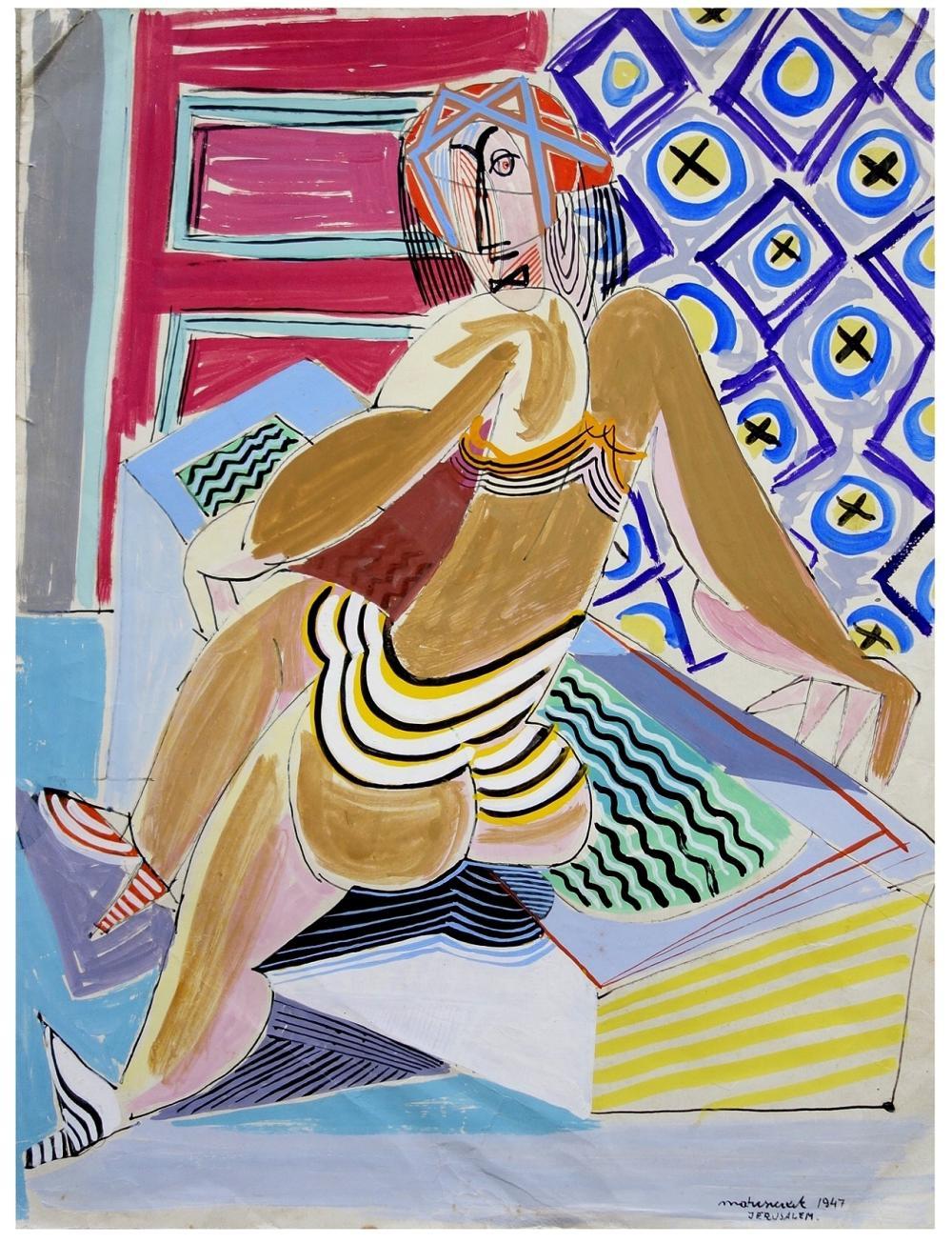 """Edward Matuszczak (1906-1965) """"Akt siedzący"""", źródło: Yair Art Gallery"""