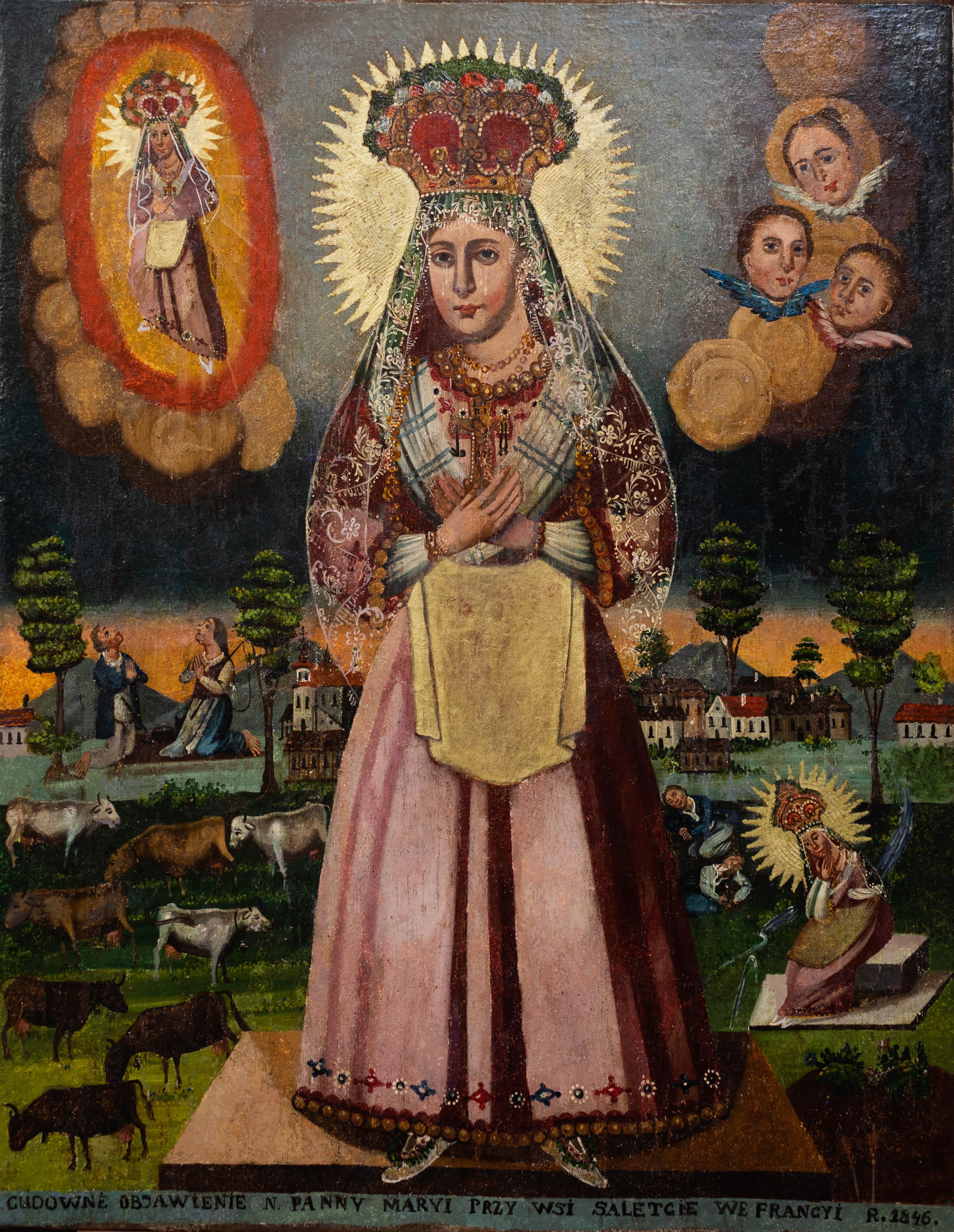 """Wincenty Chrząstkiewicz (1821-1889)? """"Matka Boża Saletyńska"""", źródło: archiwum autora"""