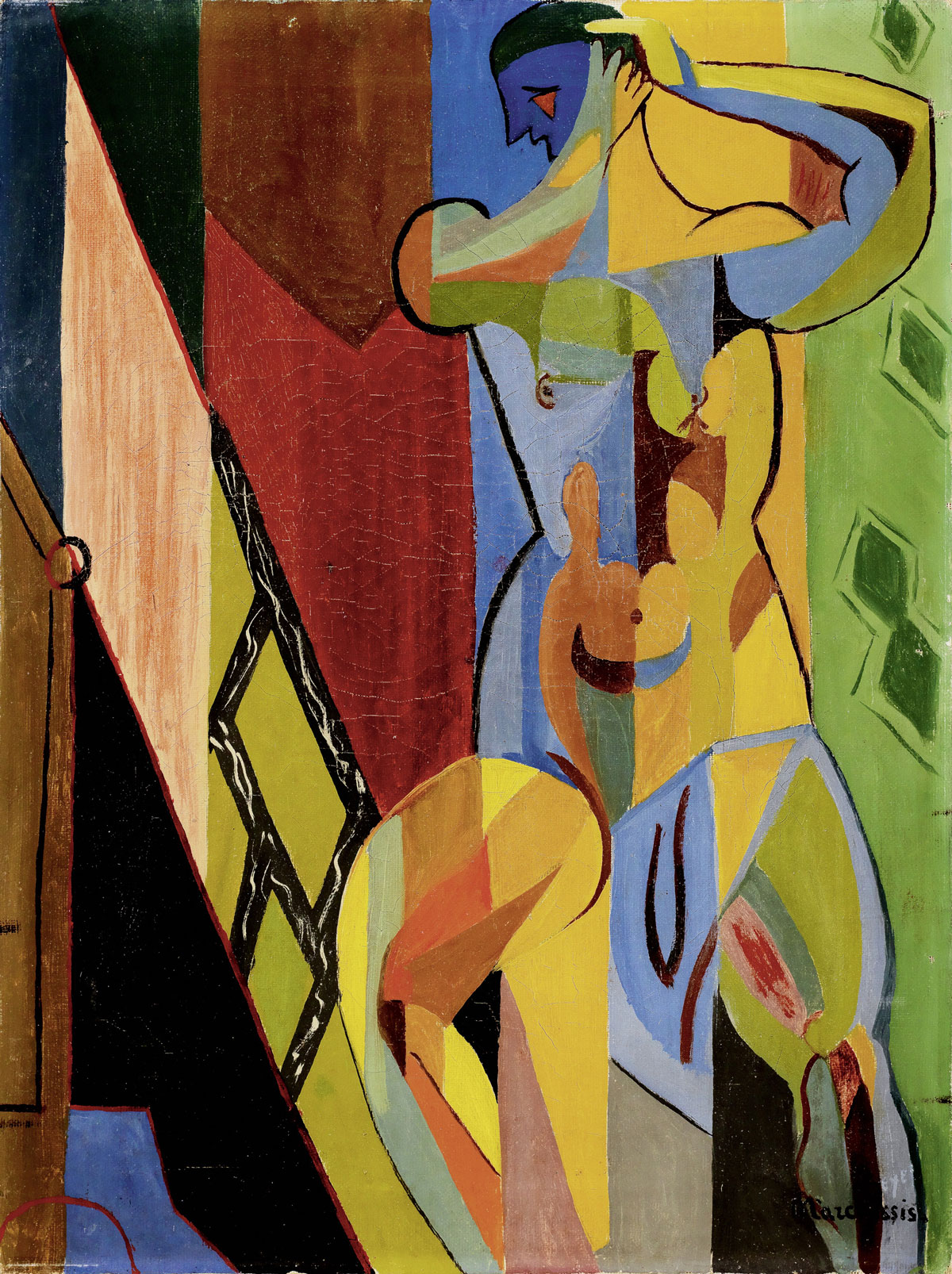 "Louis Marcoussis (1883-1941) ""Akt męski"", źródło: Galerie Kornfeld"