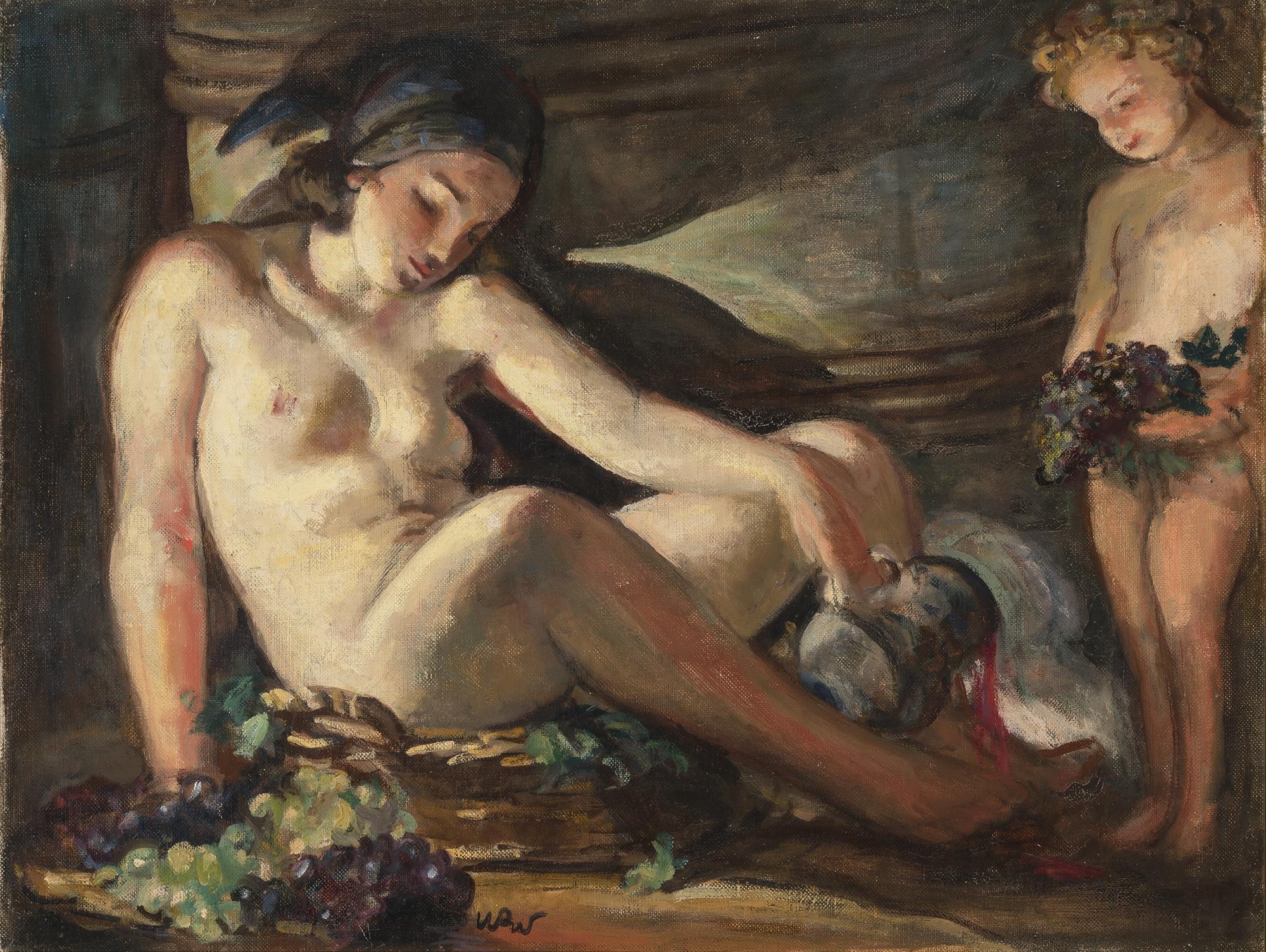 """Wojciech Weiss (1875-1950) """"Bachanalia"""", źródło: Doyle Auctions"""