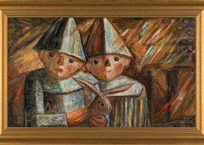 """Tadeusz Makowski """"Dwoje dzieci z królikiem"""", ok. 1930 r. źródło: Agra Art"""