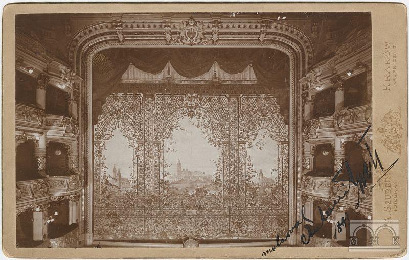 Malunki na żelaznej kurtynie Antoniego Tucha, 1893 rok, źródło: ct.mhk.pl