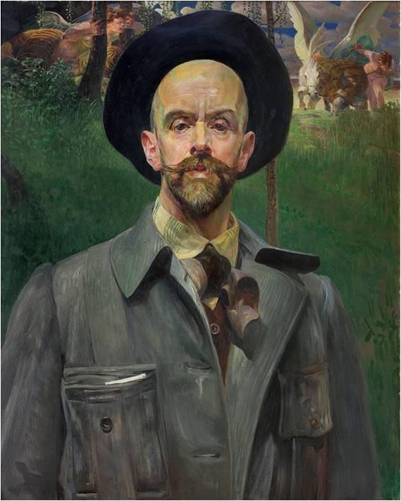 """Jacek Malczewski (1854-1929) """"Autoportret"""", 1908 rok, SPRZEDAŻ: 750 000 zł, źródło: AgraArt"""