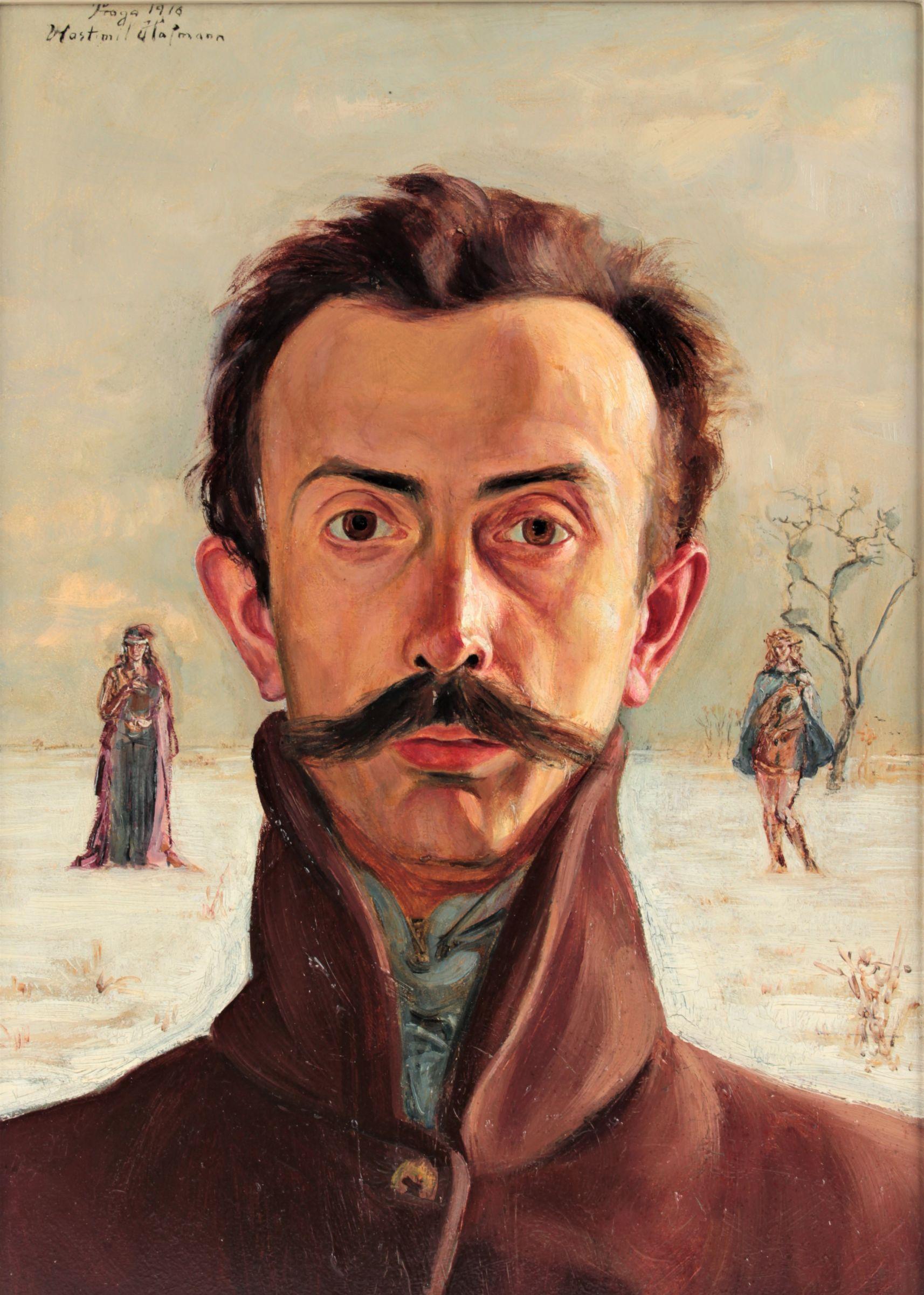 "Wlastimil Hofman (1881-1970) ""Autoportret"", źródło: Ustar Auctions"