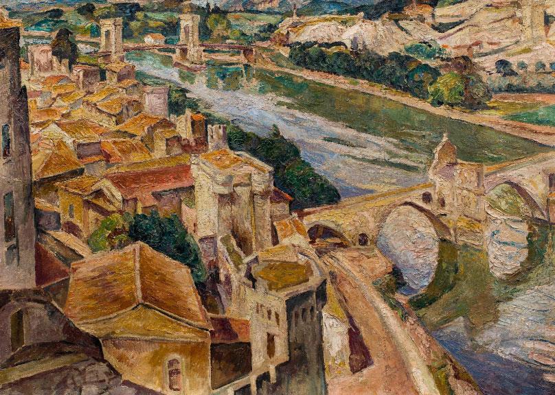 """Mela Muter (1876-1967) """"Widok Avignonu"""", źródło: LECLERE-Maison de ventes"""