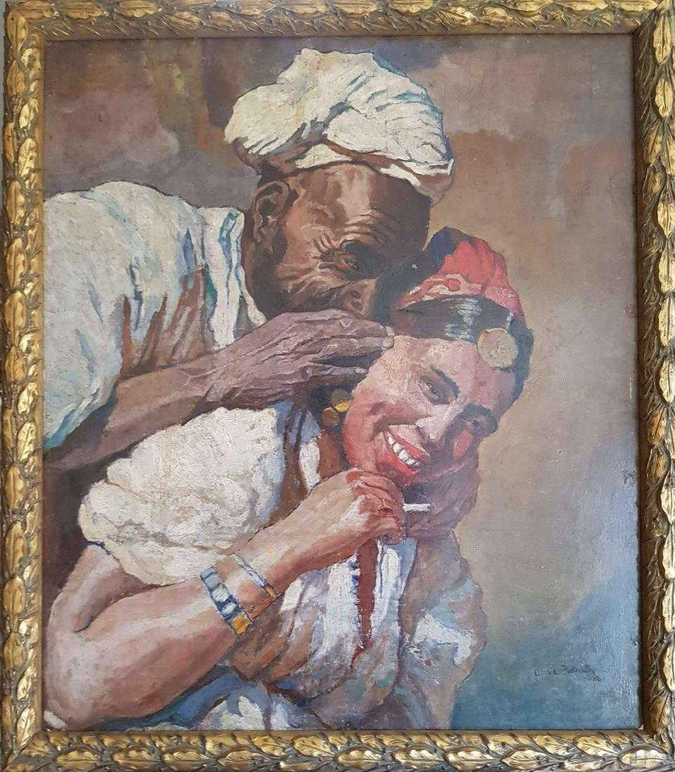 """Oleksa Novakivsky (1872-1935) """"Scena orientalna"""", źródło: Art Leon"""