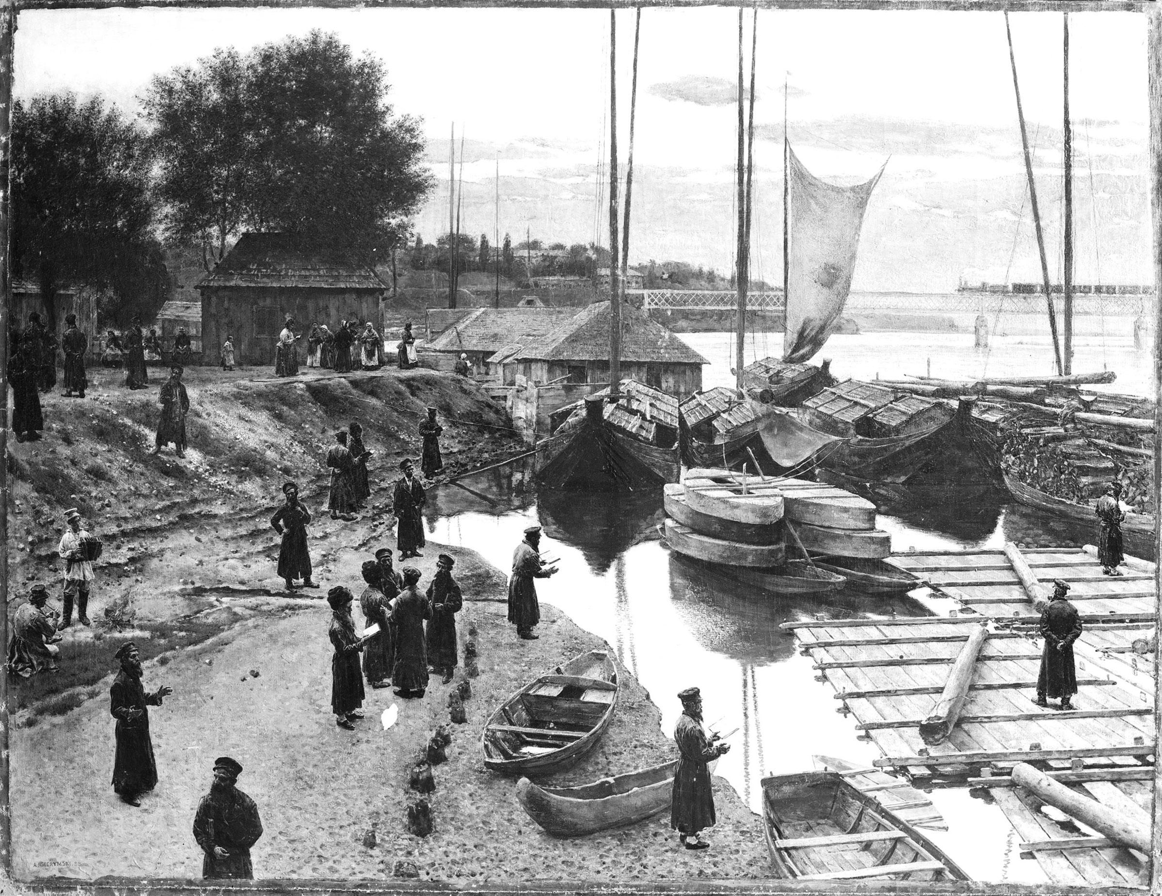 """Aleksander Gierymski """"Święto Trąbek II"""", 1888 rok (obraz zaginiony), źródło: Muzeum Narodowe w Warszawie"""