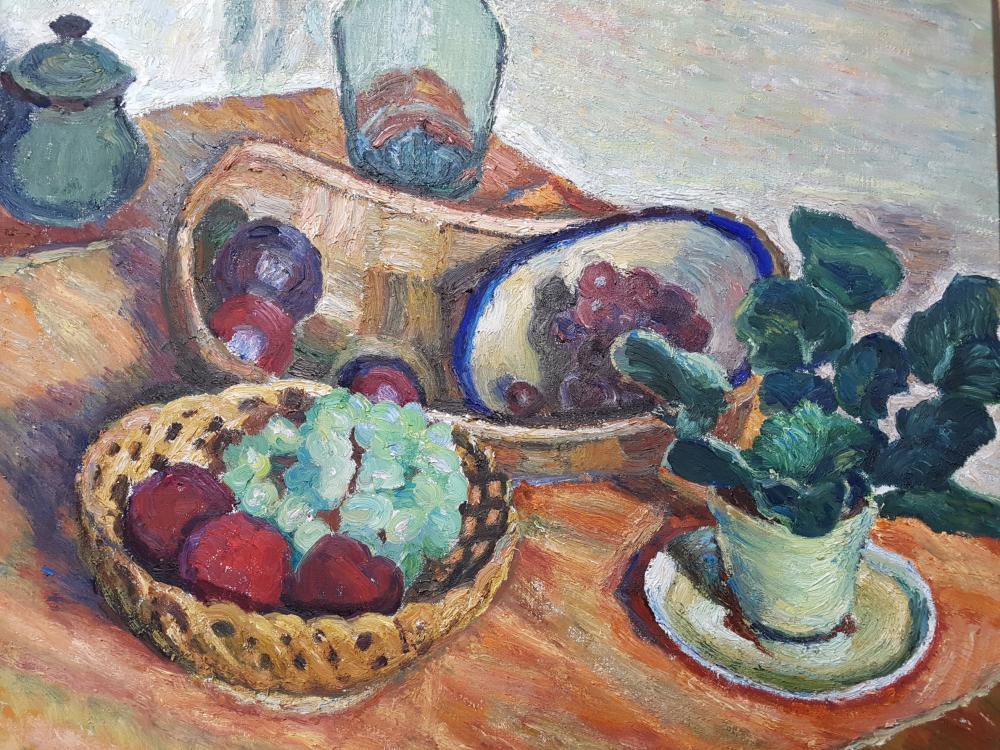 "Stefan Kątski (1898-1978) ""Martwa natura z owocami"", źródło: Kavanagh Auctions"