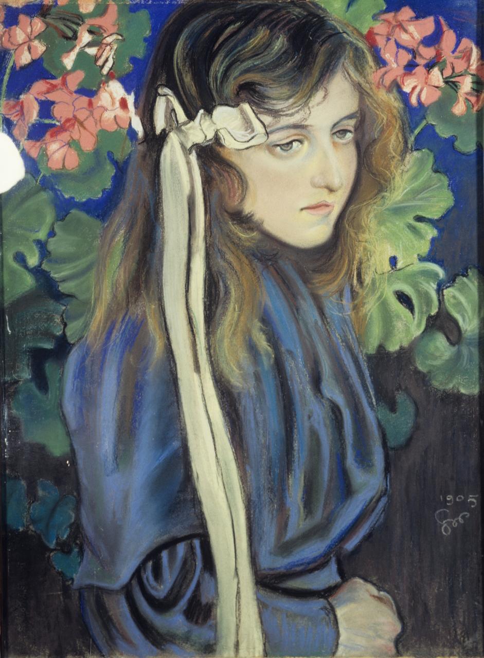 """Stanisław Wyspiański """"Portet Elizy Pareńskiej"""", 1905 rok, źródło: Muzeum Narodowe w Kielcach"""