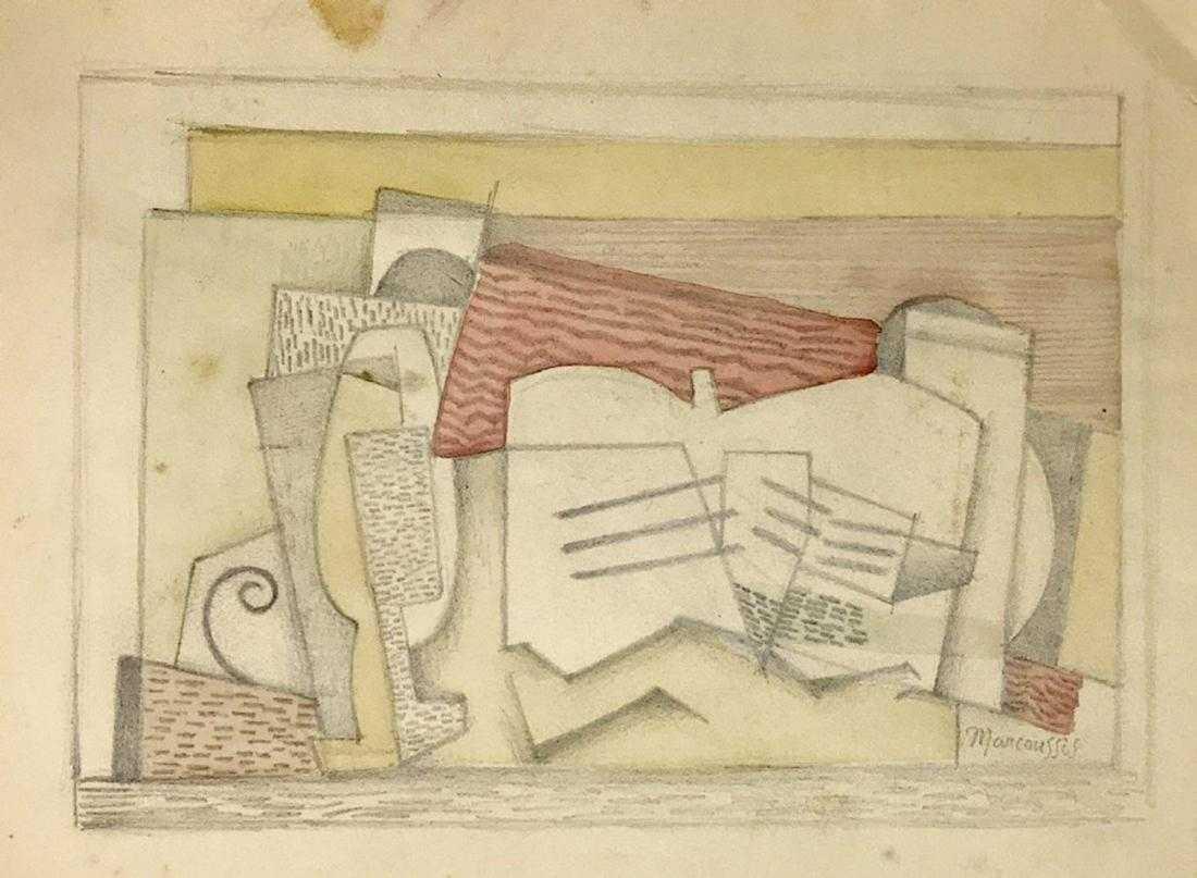 """Louis Marcoussis (1883-1941) """"Kompozycja abstrakcyjna"""", źródło: Willow Fine Art Gallery"""