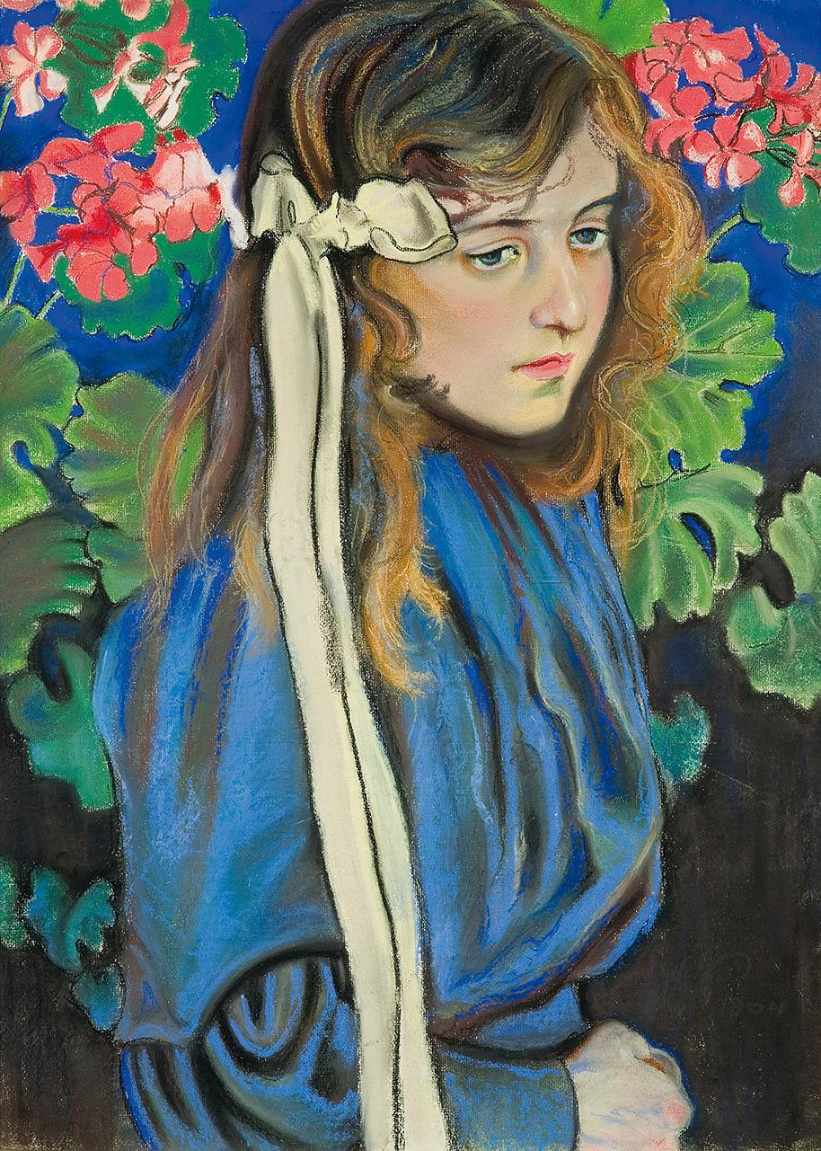 """Stanisław Wyspiański """"Portet Elizy Pareńskiej"""", 1904 rok, źródło: Agra-Art"""
