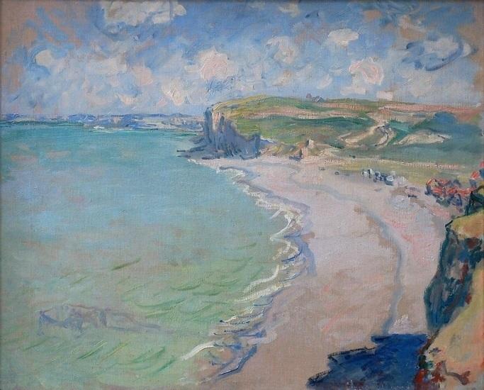 """Obraz Claude'a Moneta """"Plaża w Pourville"""", źródło: Muzeum Narodowe w Poznaniu"""