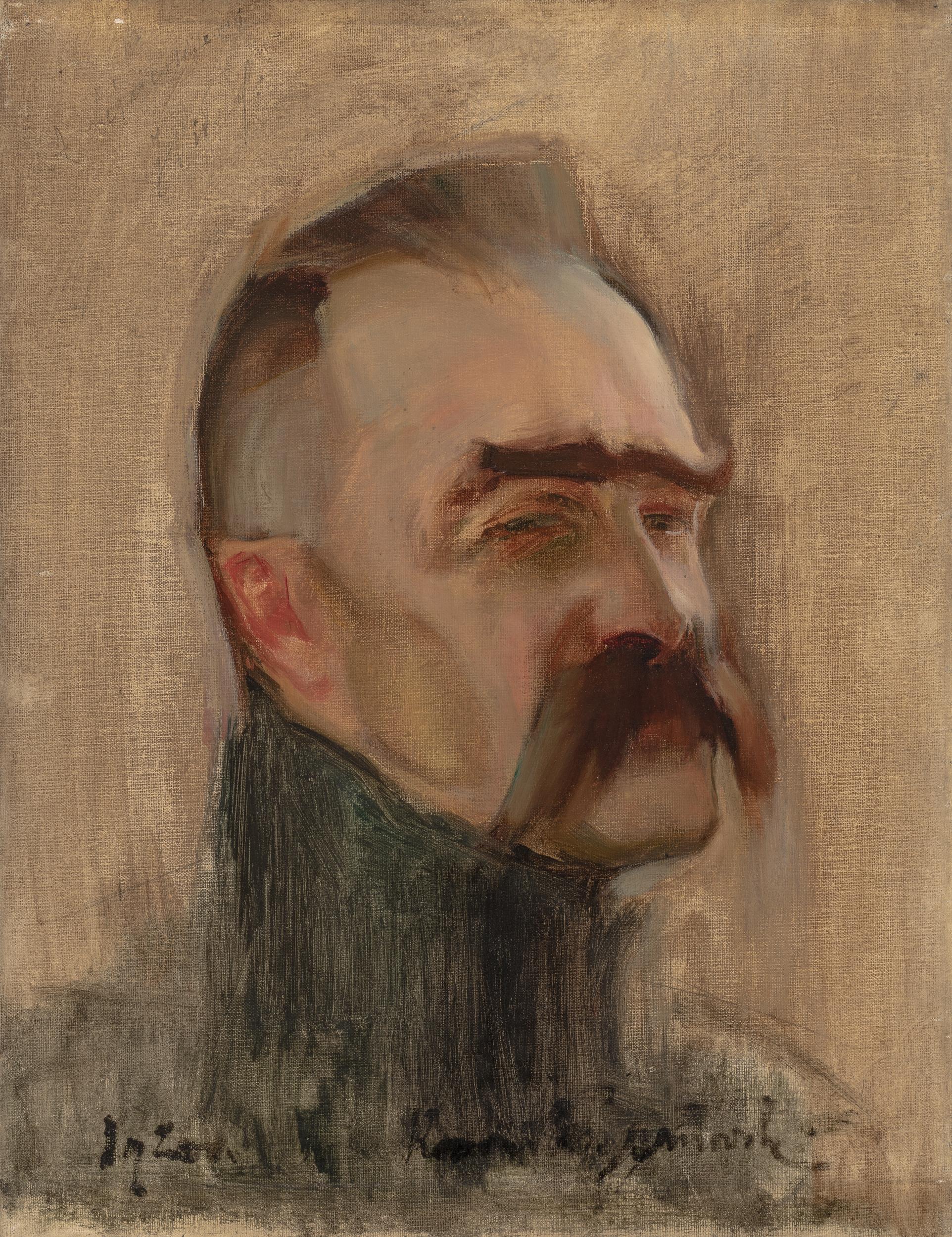 """Konrad Krzyżanowski """"Portret Józefa Piłsudskiego"""", źródło: Muzeum Śląskie w Katowicach"""