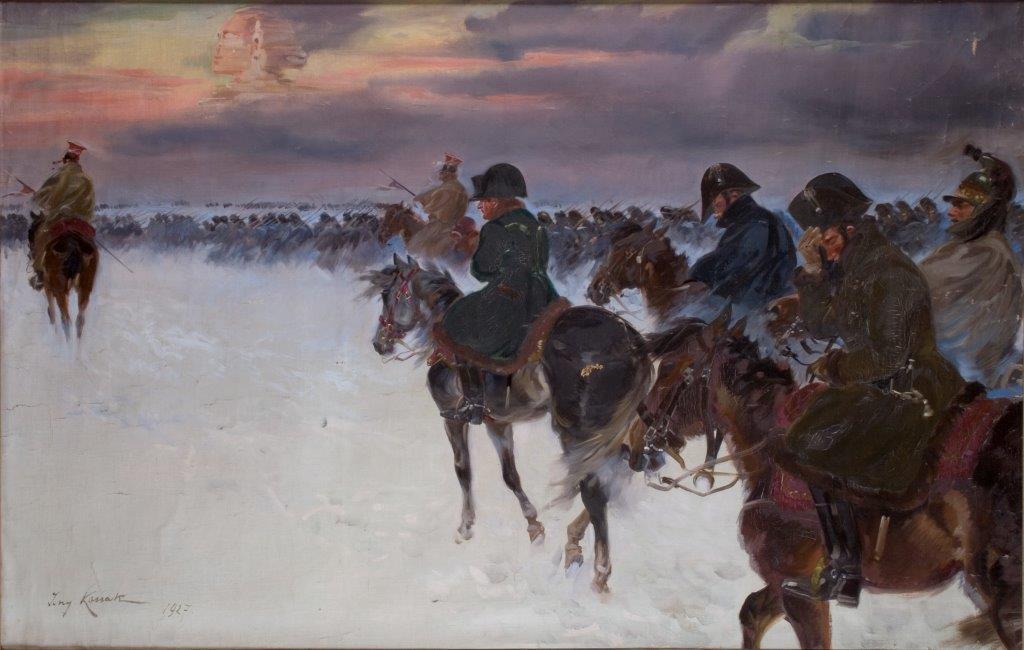 """Jerzy Kossak """"Wizja Napoleona"""", 1927, źródło: Muzeum Narodowe w Krakowie"""