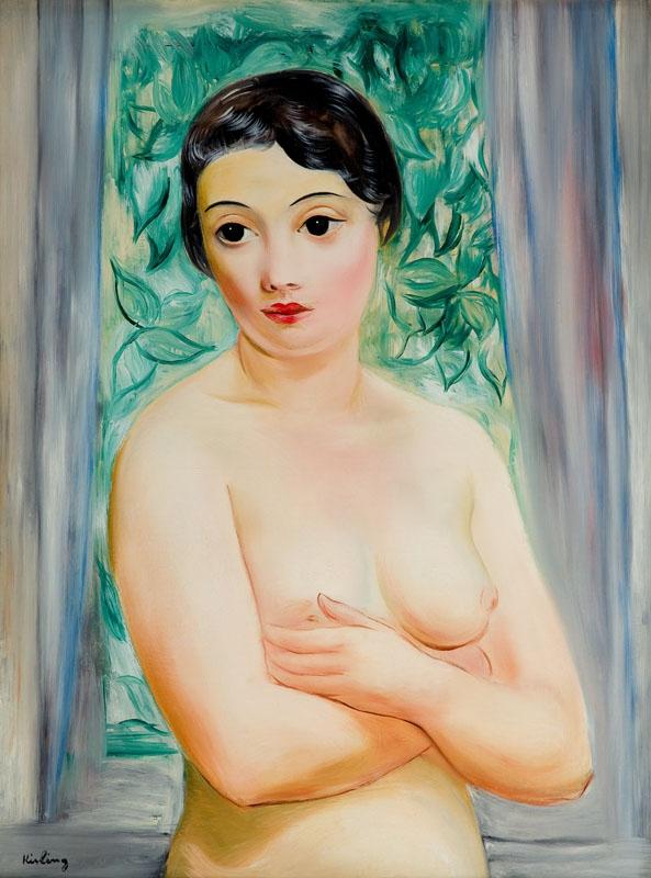 """Mojżesz Kisling, """"Katarzyna"""" (""""Przed oknem""""), 1928 rok, źródło: Desa Unicum"""