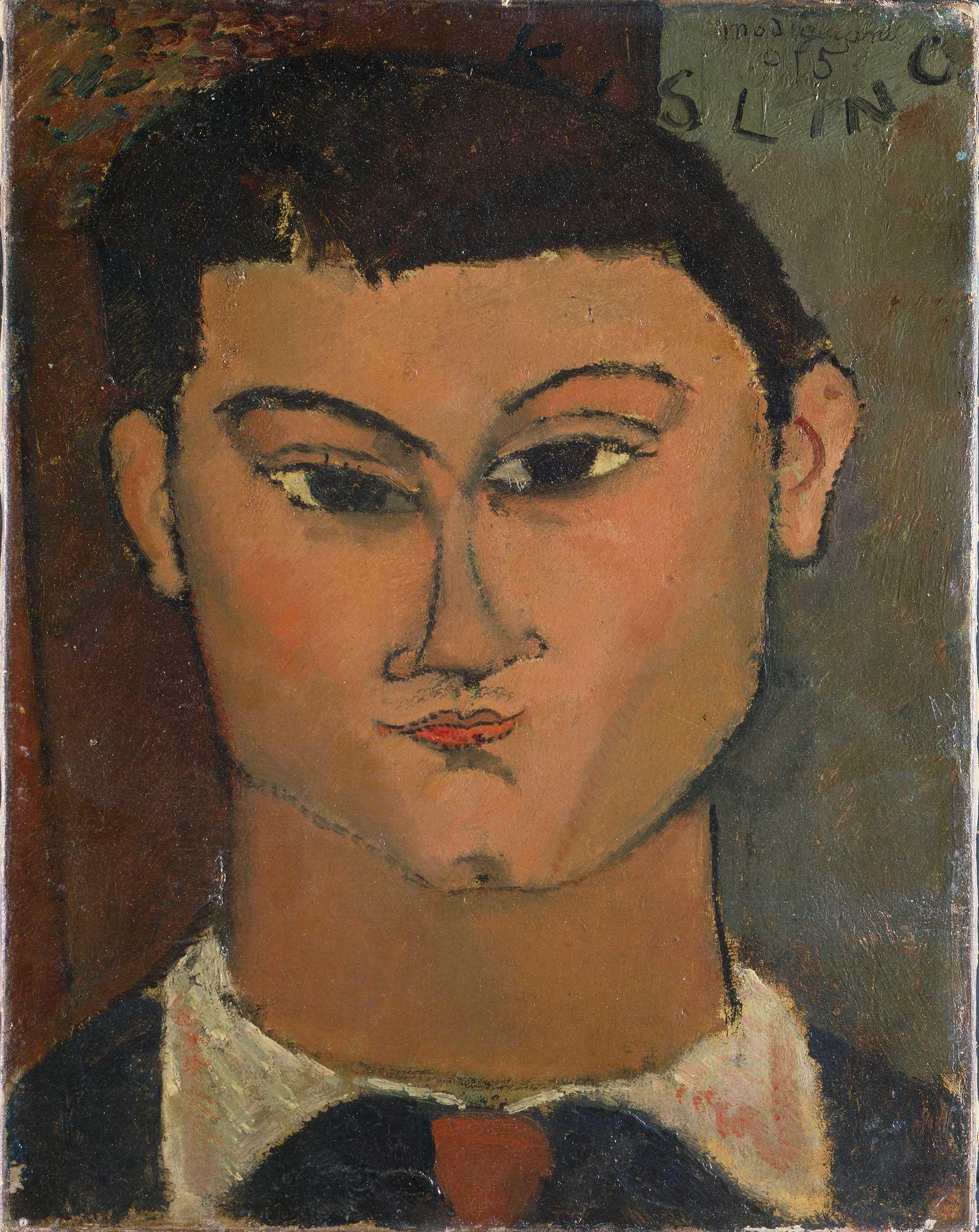 "Amedeo Modigliani, ""Portret Mojżesza Kislinga"", 1915 rok, źródło:  Pinacoteca di Brera"