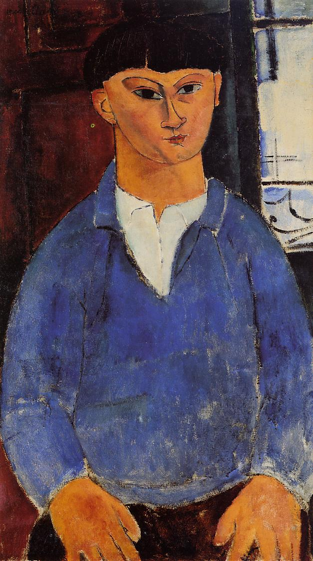 "Amedeo Modigliani, ""Portret Mojżesza Kislinga"", 1916 rok, źródło: Lille Métropole Museum of Modern, Contemporary and Outsider Art"