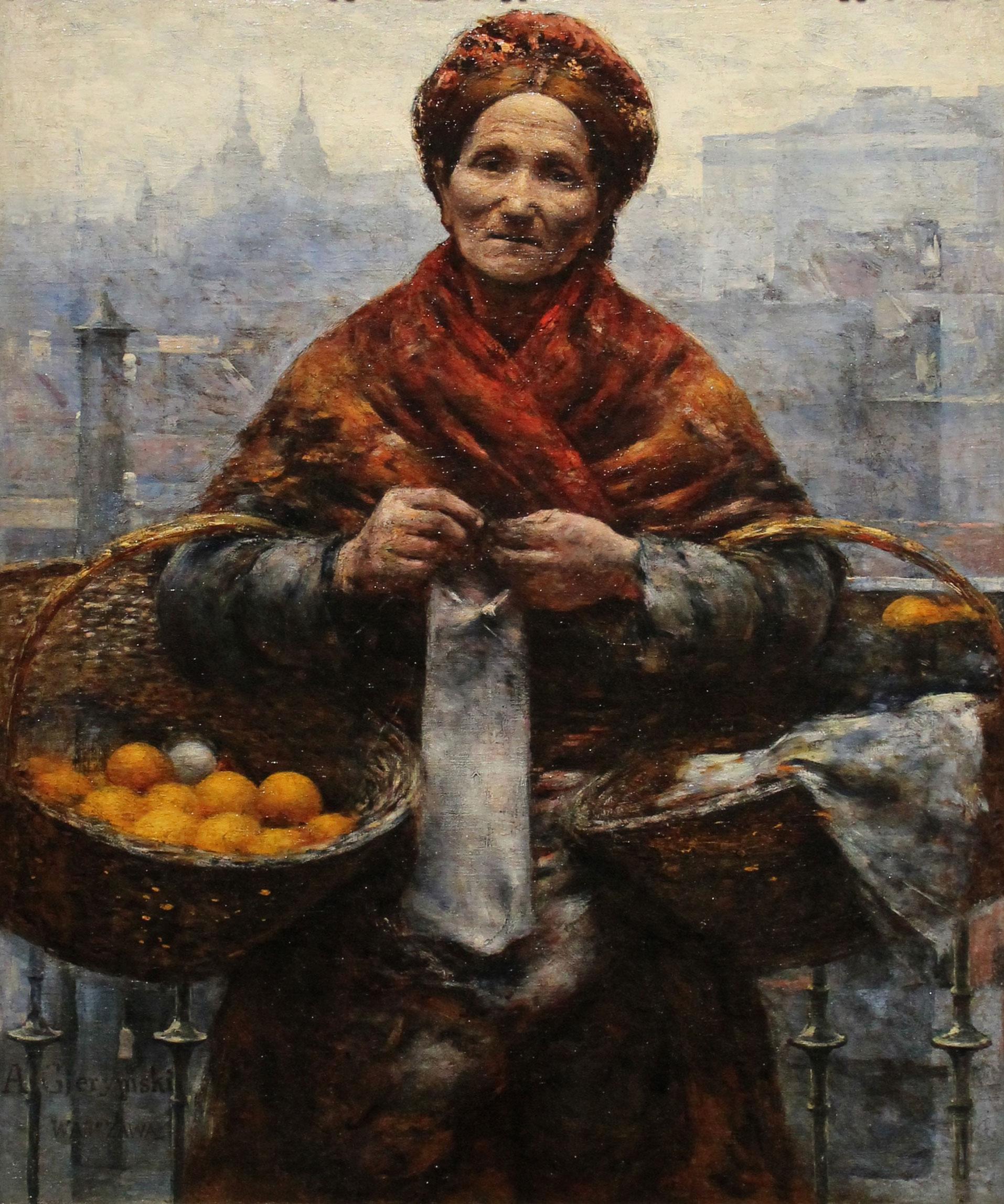"""Aleksander Gierymski """"Żydówka z pomarańczami"""", źródło: Muzeum Narodowe w Warszawie"""