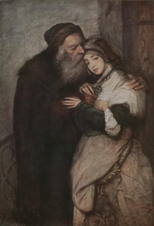 """Maurycy Gottlieb """"Shylock i Jessica"""", 1876, obraz zaginiony"""