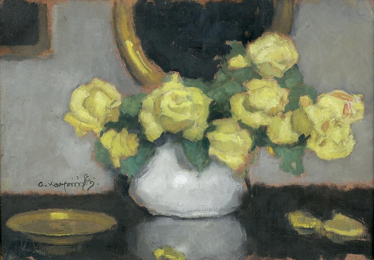 "Alfons Karpiński ""Żółte róże"", źródło: Agra-Art"