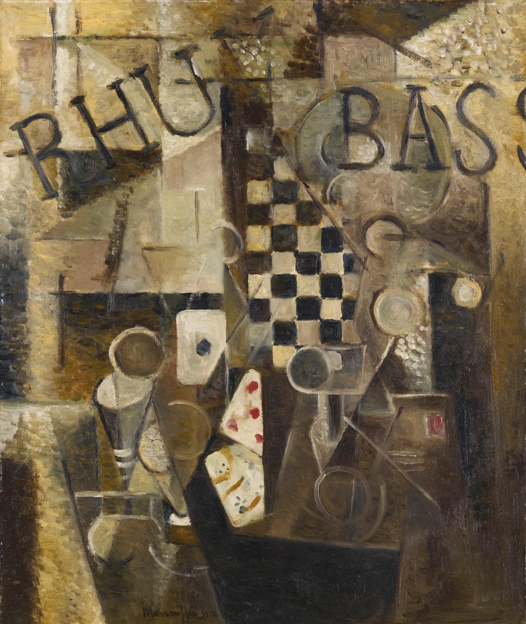 """Louis Marcoussis (1878-1941) """"Martwa natura kubistyczna"""", źródło: Sotheby's"""