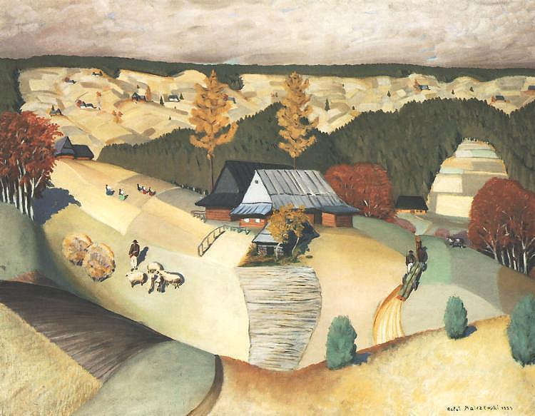 """Rafał Malczewski """"Pogodne życie"""", 1927 rok, źródło: Muzeum Narodowe w Warszawie"""