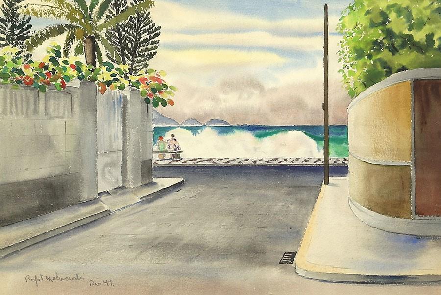 """Rafał Malczewski """"Rio de Janeiro"""", 1941 rok, źródło: Salon Dzieł Sztuki Connaisseur"""