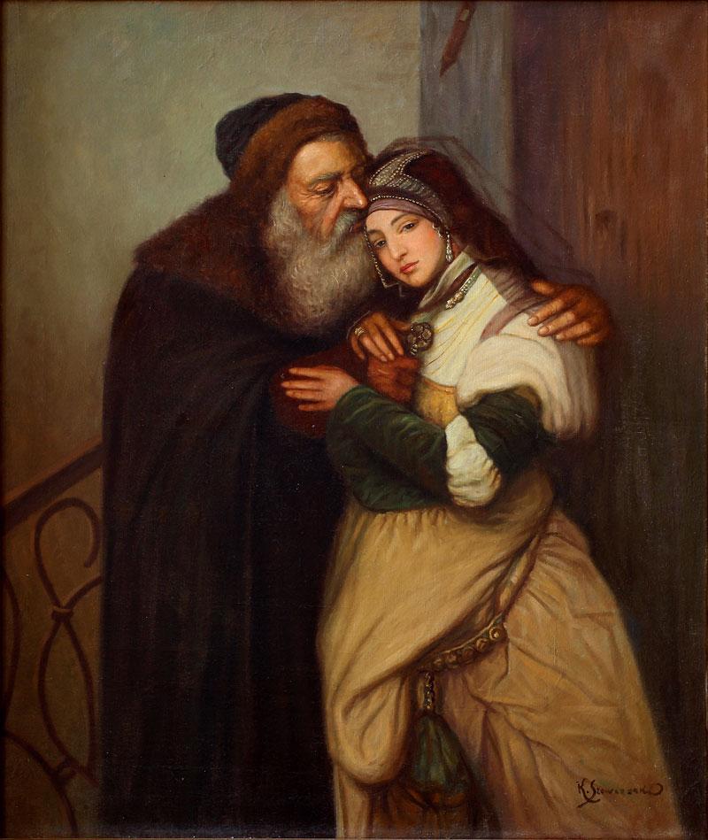 """Konstanty Szewczenko """"Shylock i Jessica"""", źródło: Salon Dzieł Sztuki Connaisseur"""