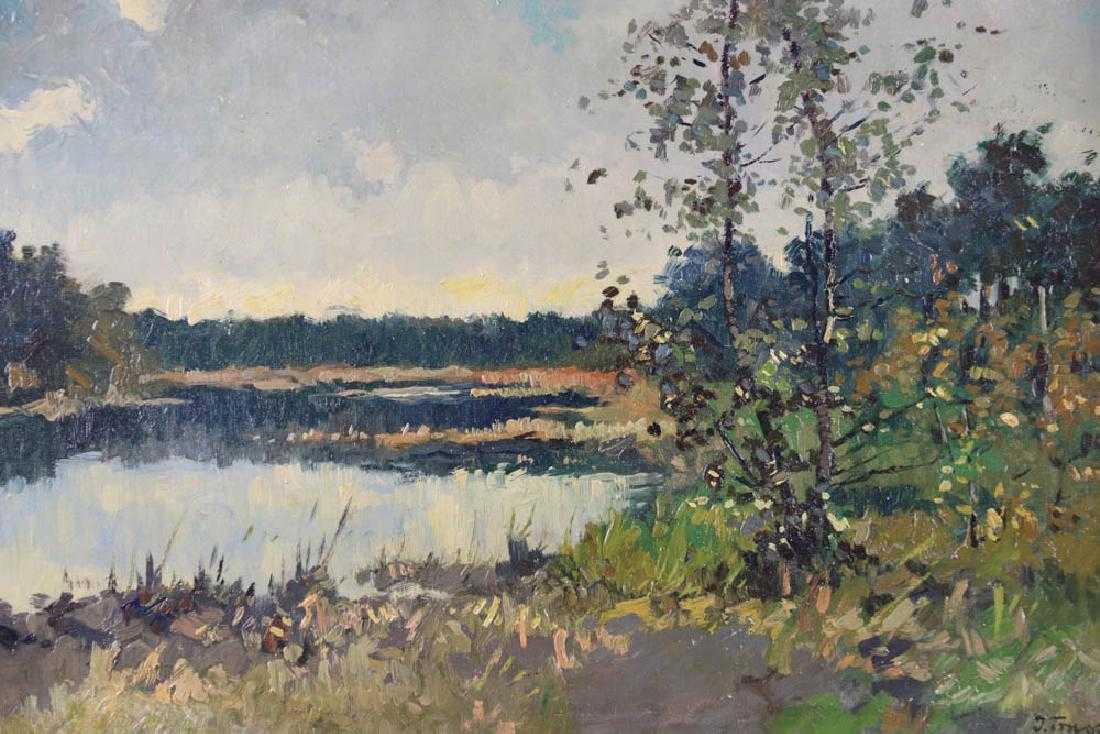 """Iwan Trusz (1869-1941) """"Pejzaż leśny"""", źródło: Kaminski Auctions"""