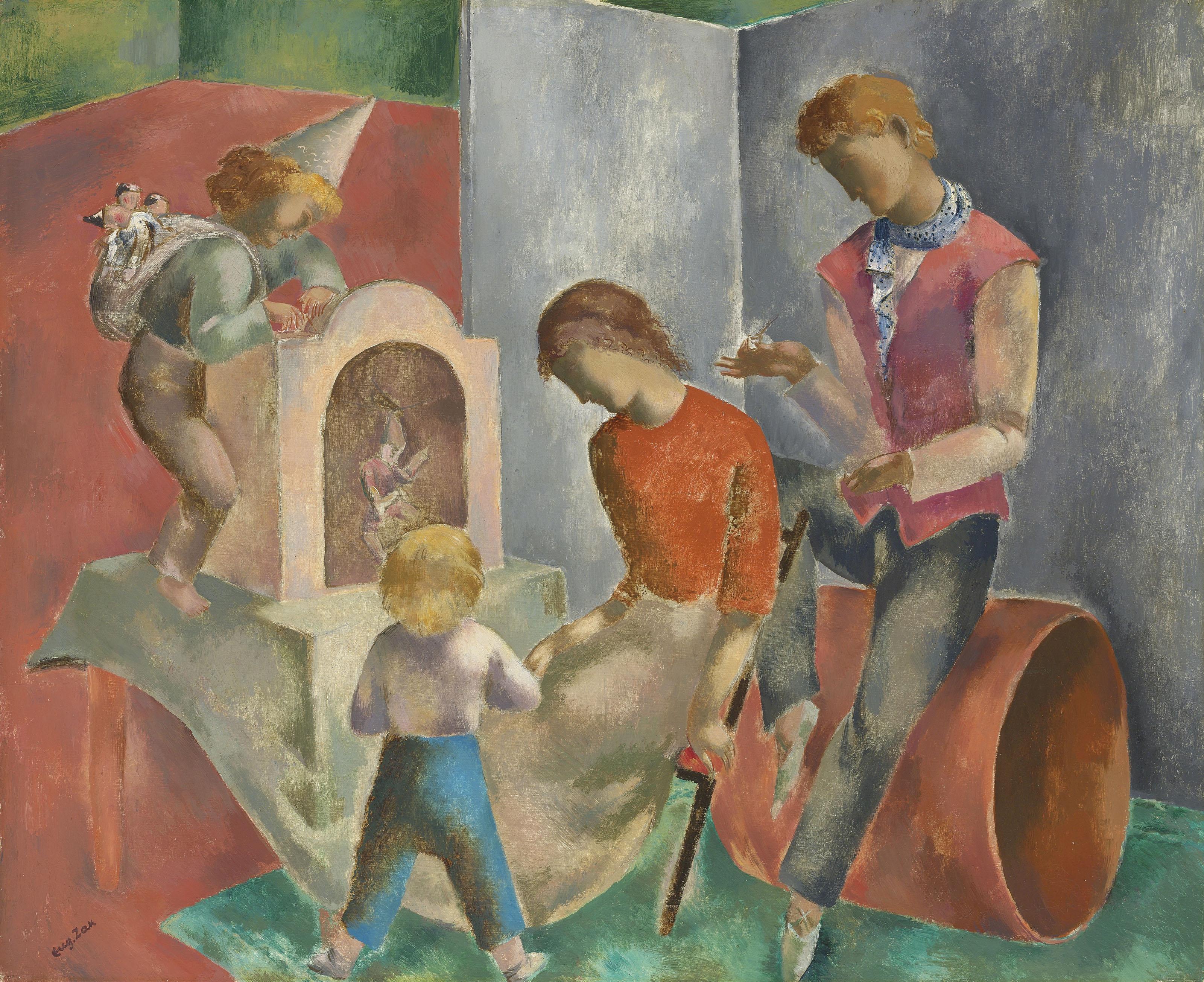 """Eugeniusz Zak (1884-1926) """"Marionetki"""", źródło: Christie's"""