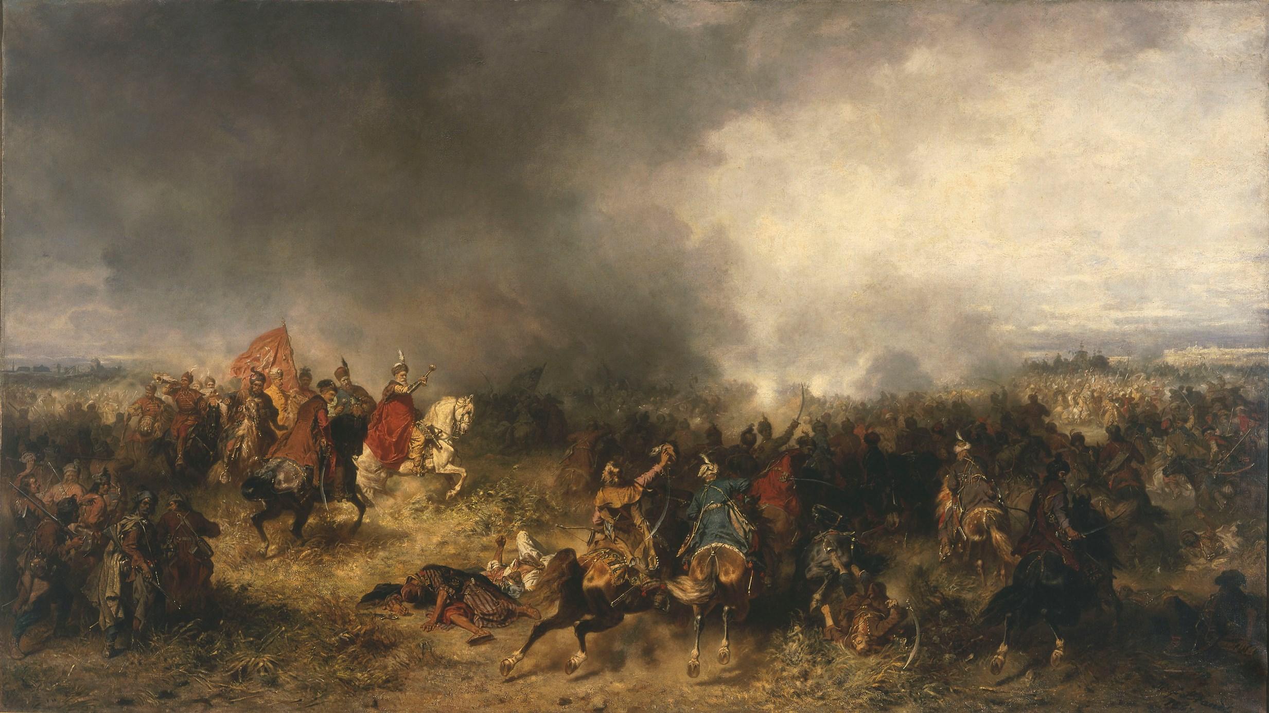 """Józef Brandt """"Bitwa pod Chocimiem"""", 1867 rok, źródło: Muzeum Narodowe w Warszawie"""