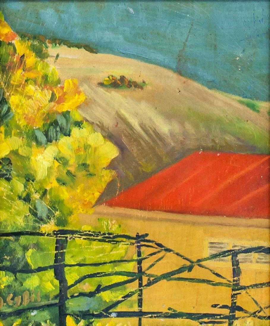 """Jan Cybis (1897-1972) """"Pejzaż z połamanym płotem"""", źródło: 888 Auctions"""