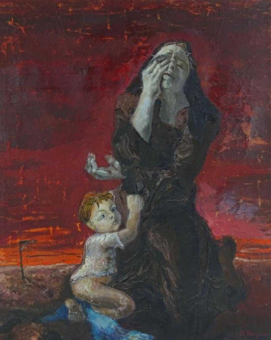"""Henryk Hayden (1883-1970) """"Dramatyczna matka z dzieckiem"""", źródło: Joshua Kodner"""