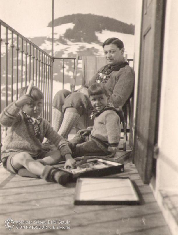Mojżesz Kisling z synami w Megève, 1927 rok, źródło: Salon Dzieł Sztuki Connaisseur
