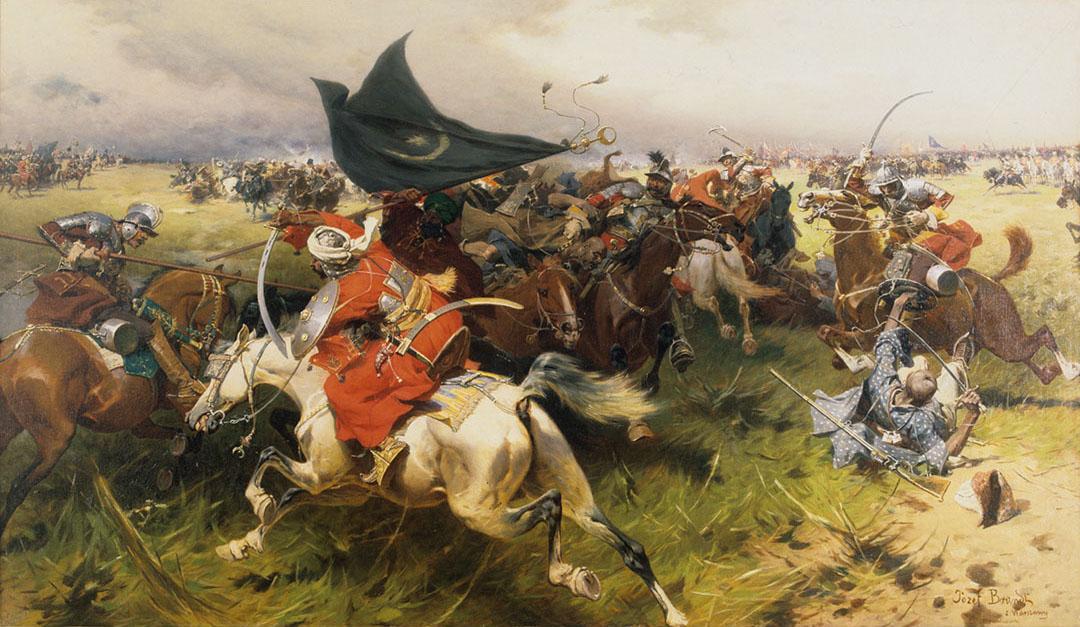 """Józef Brandt """"Walka o sztandar turecki"""", źródło: Muzeum Narodowe w Krakowie"""
