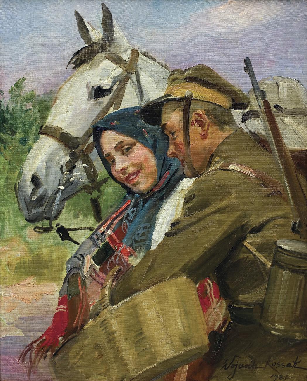 """Wojciech Kossak """"Umizgi"""", 1927 rok, źródło: Agra-Art"""