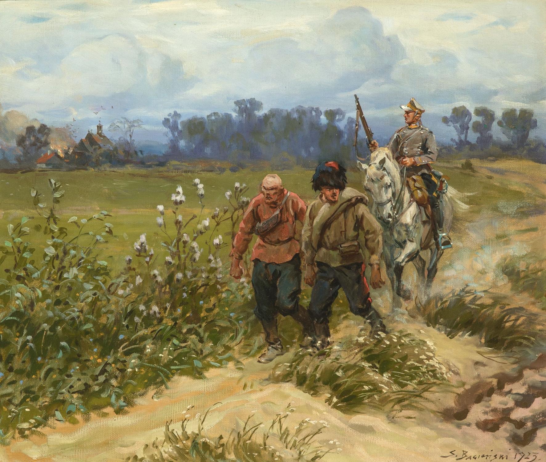 """Stanisław Bagieński (1876-1948) """"Bolszewiccy jeńcy"""", źródło: De Vuyst"""
