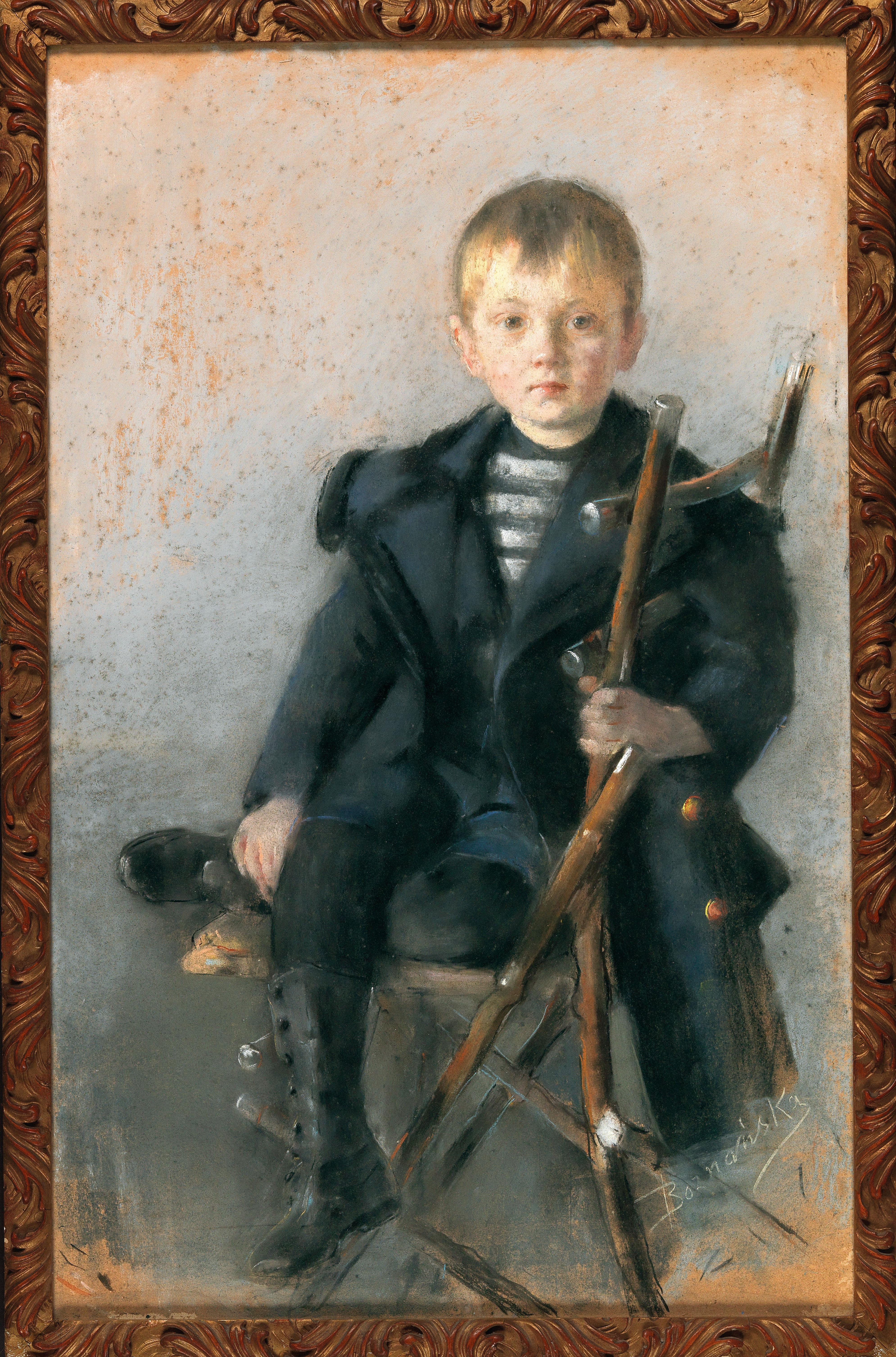 "Olga Boznańska (1865-1940) ""Portret chłopca"", źródło: Dorotheum"
