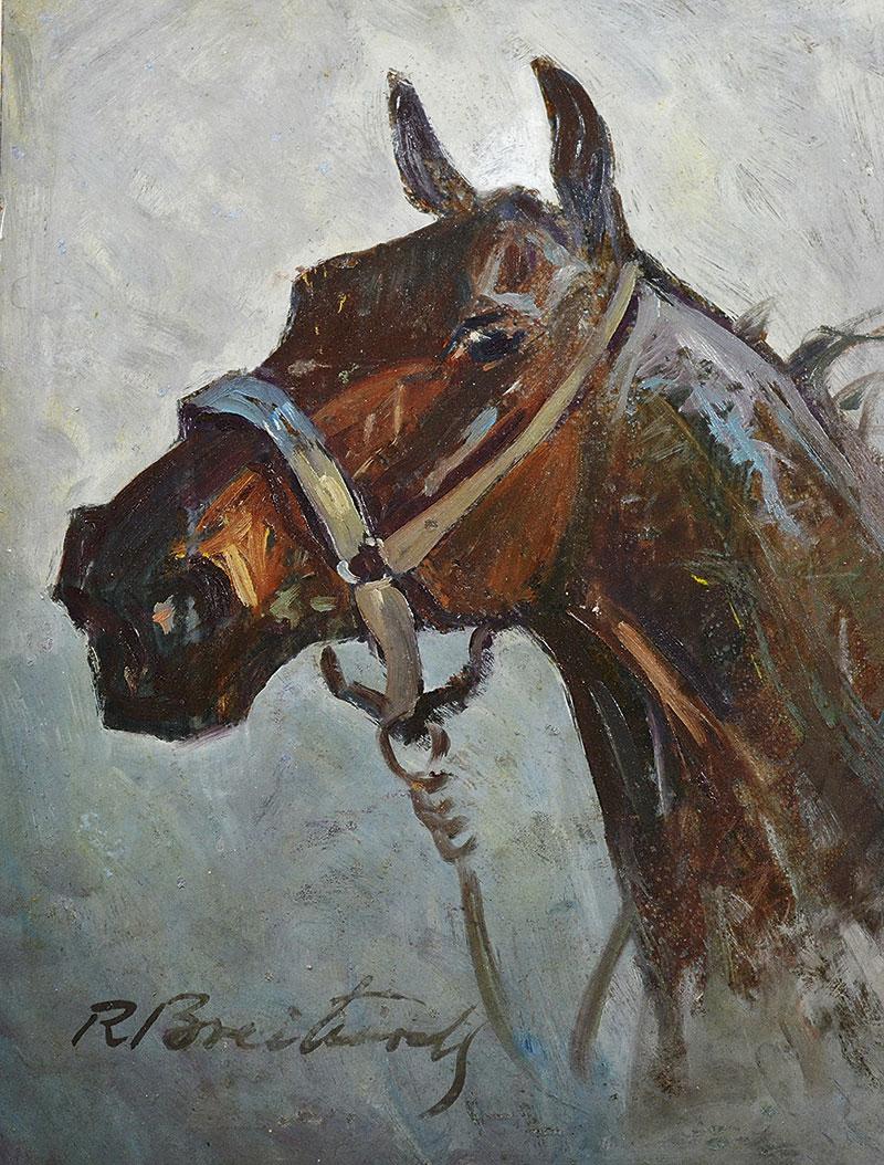 """Roman Breitenwald """"Głowa konia"""", źródło: Sopocki Dom Aukcyjny"""