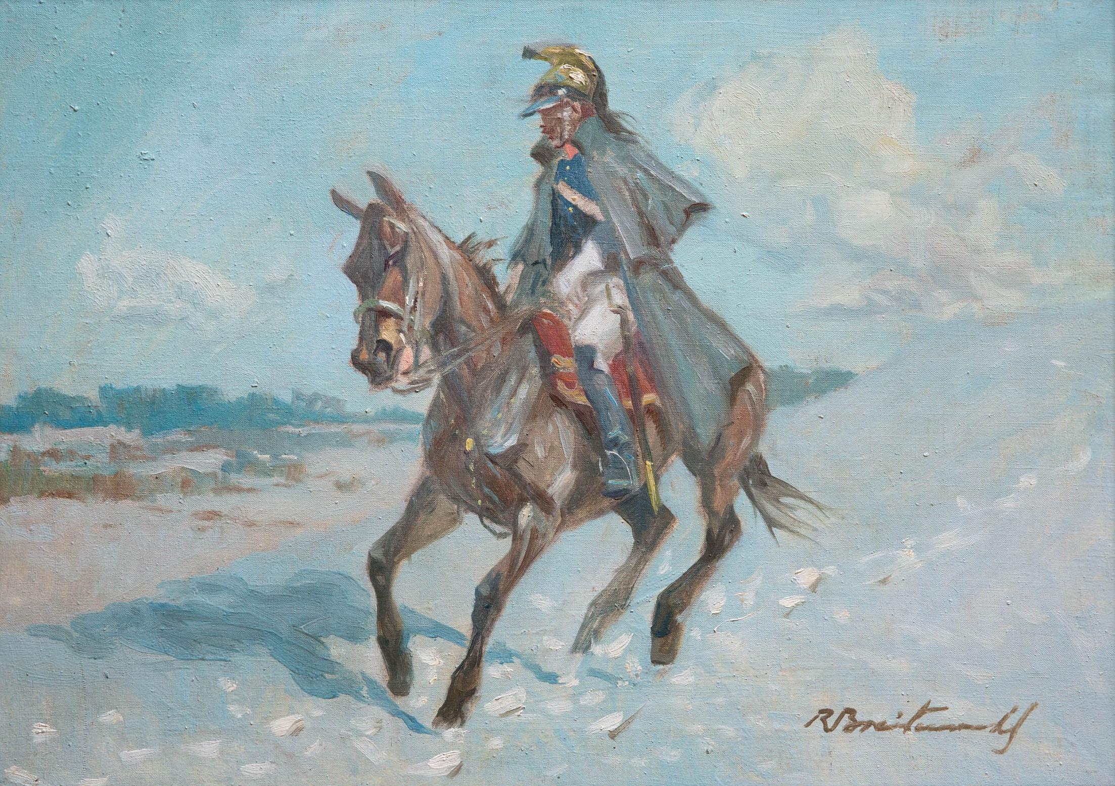 "Roman Breitenwald ""Kirasjer"", źródło: Salon Dzieł Sztuki Connaisseur"