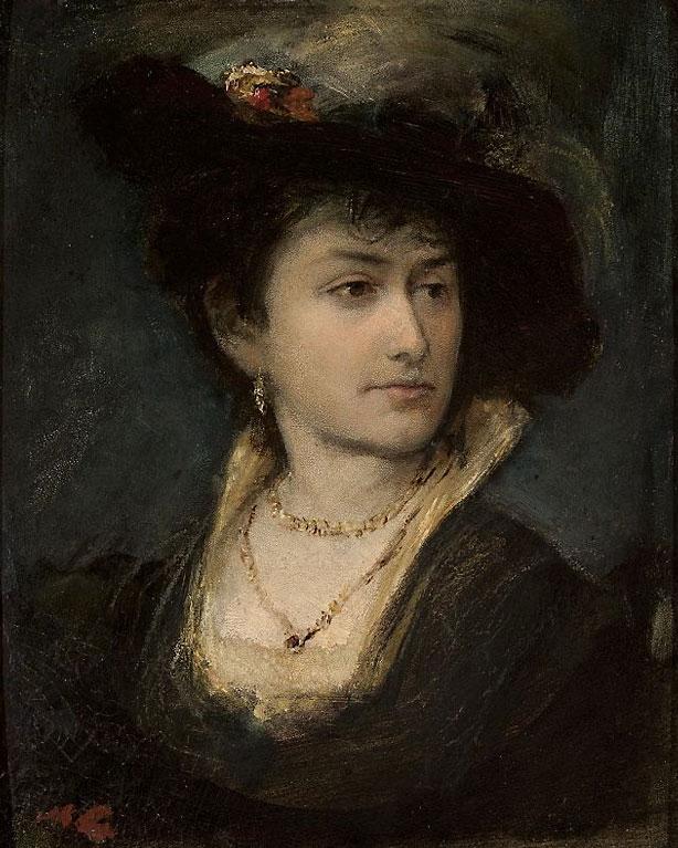 """Maurycy Gottlieb """"Portret Anny, siostry artysty"""", źródło: Muzeum Narodowe w Warszawie"""