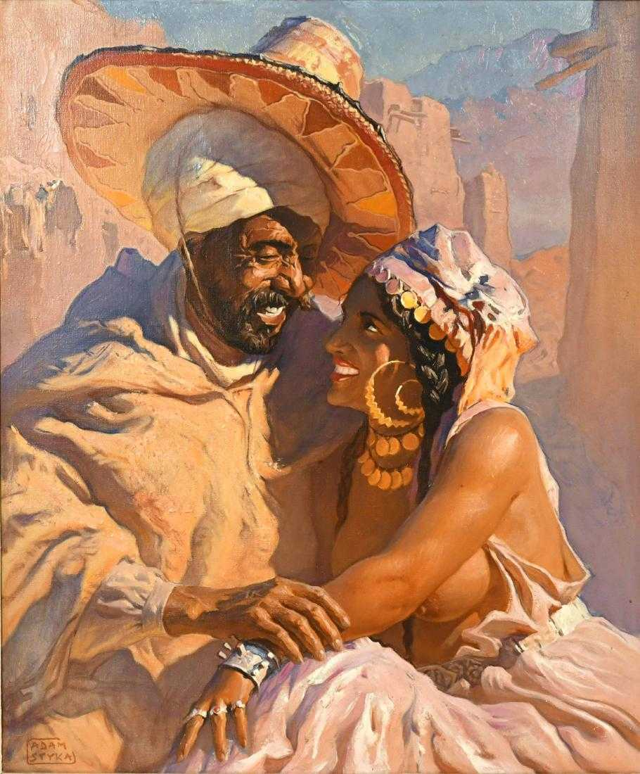 "Adam Styka (1890-1959) ""Marokańska para"", źródło: Nye & Company"