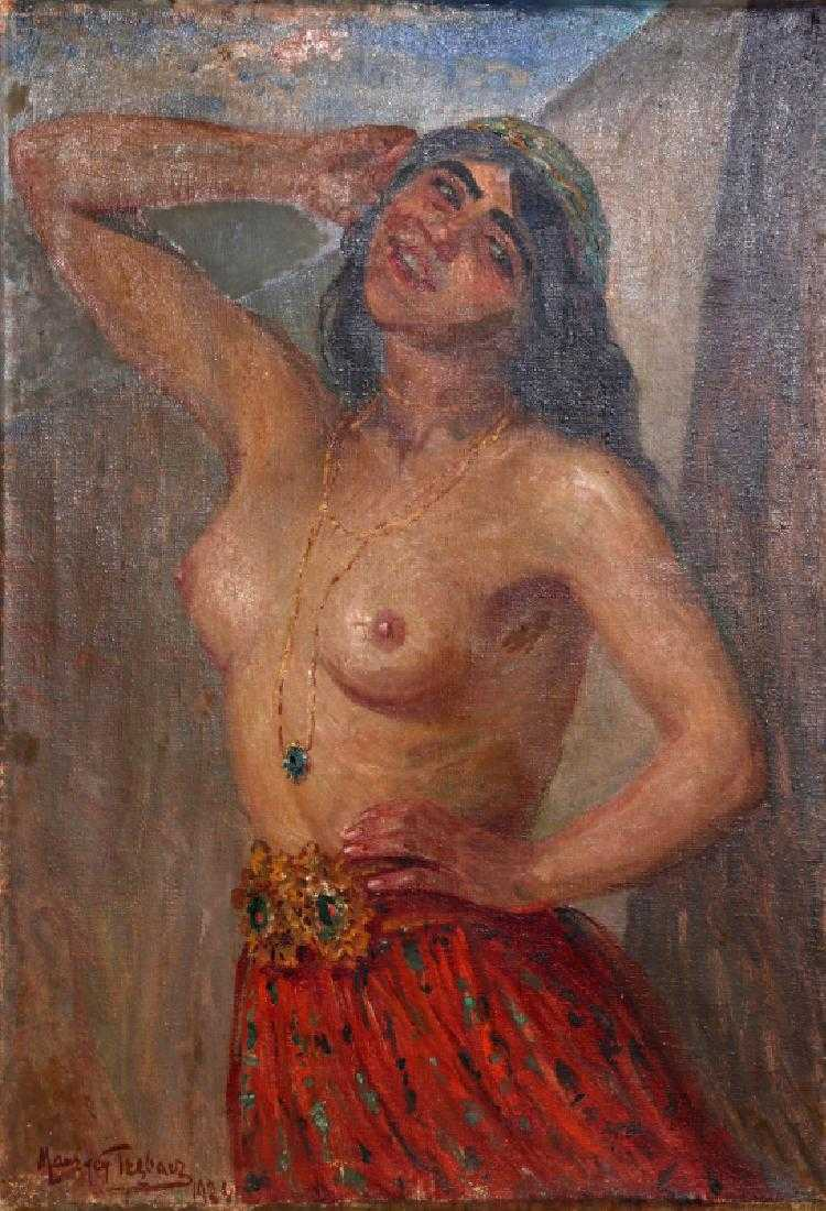 """Maurycy Trębacz (1861-1941) """"Cyganka"""", źródło: RoGallery"""
