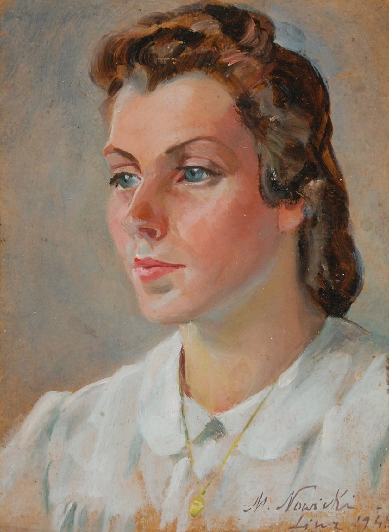 """Marian Nowicki """"Biała bluzka"""", 1945 rok, źródło: Rempex"""