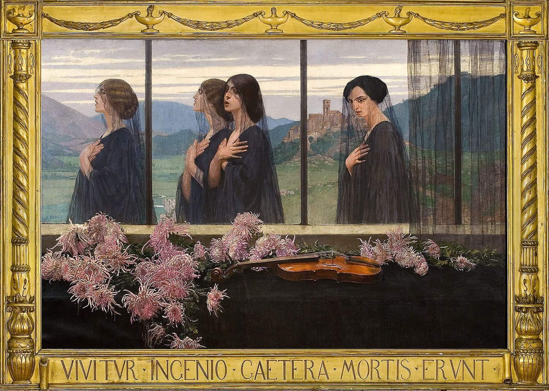 Obraz Edwarda Okunia w autorskiej ramie, źródło: Arizona State University Art Museum