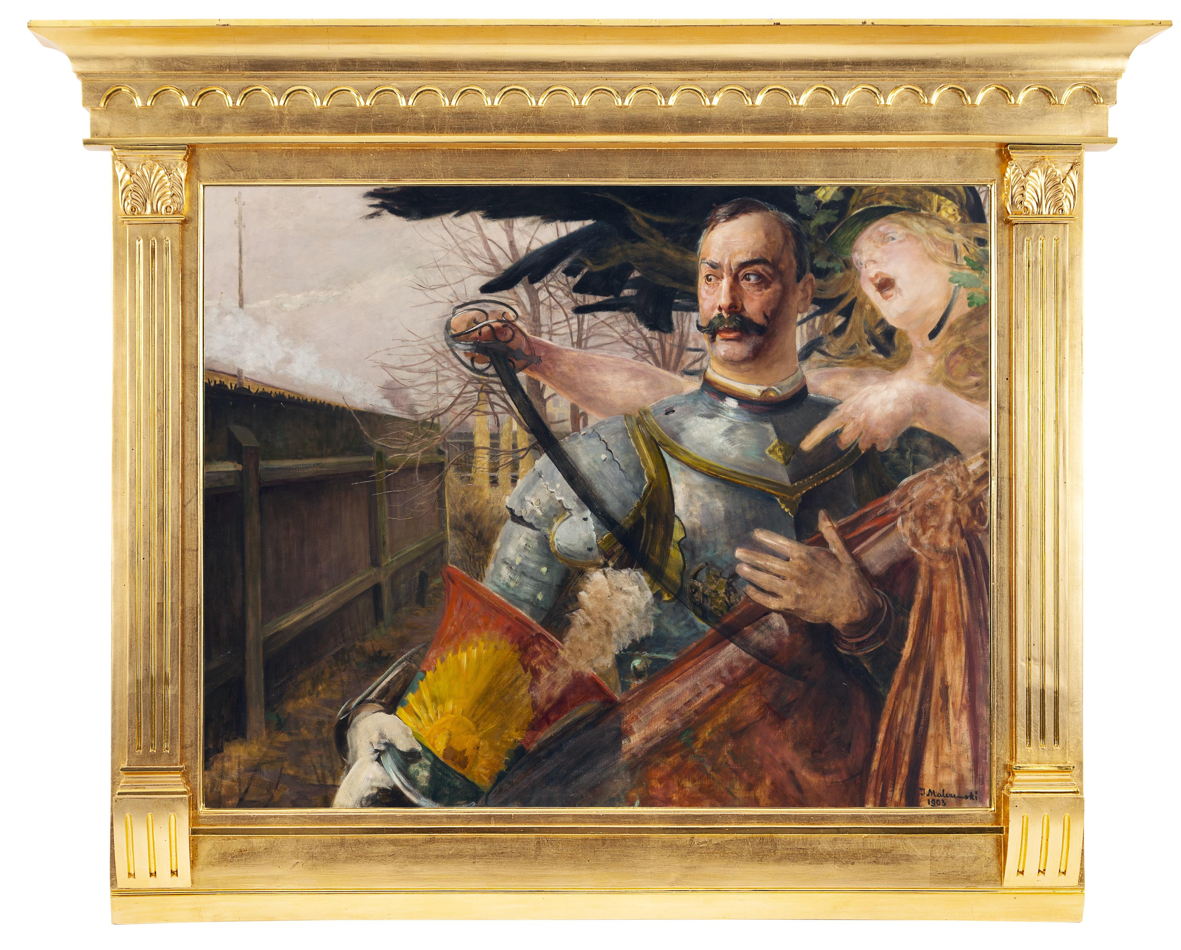 Obraz Jacka Malczewskiego w ramie kolumnowej, źródło: Desa Unicum